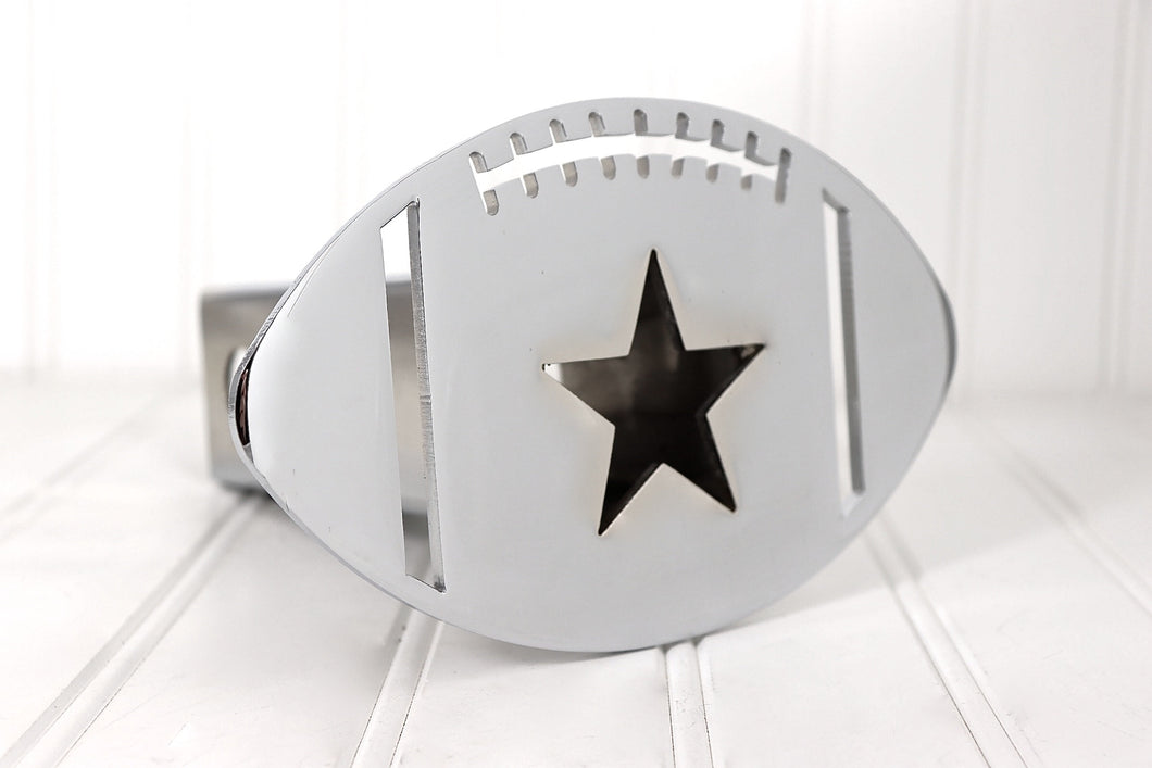Chrome Football Star Hitch Cover, Free Shipping