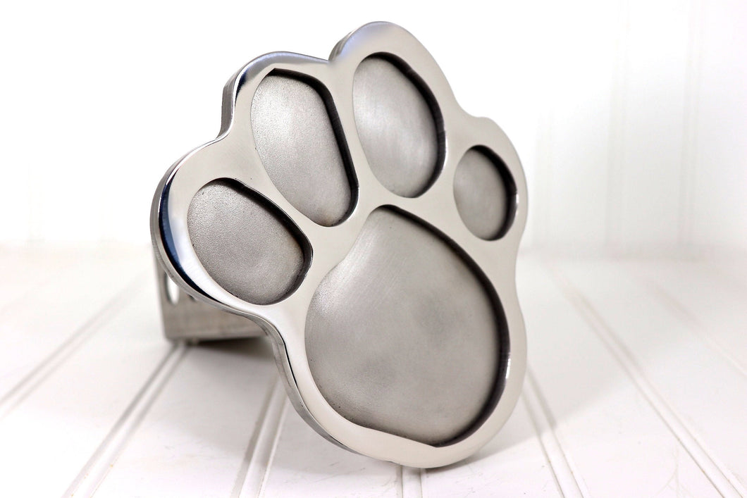 Stainless Steel Paw Print Hitch Cover, Free Shipping