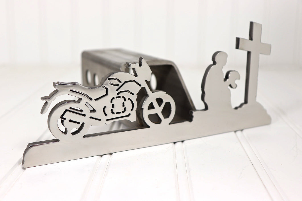 Stainless Motorcycle Cross Hitch Cover, Free Shipping
