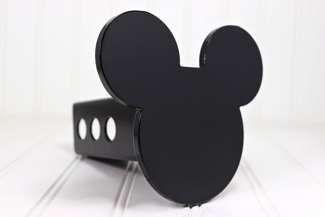 Black Mickey Mouse Ears Hitch Cover, Free Shipping