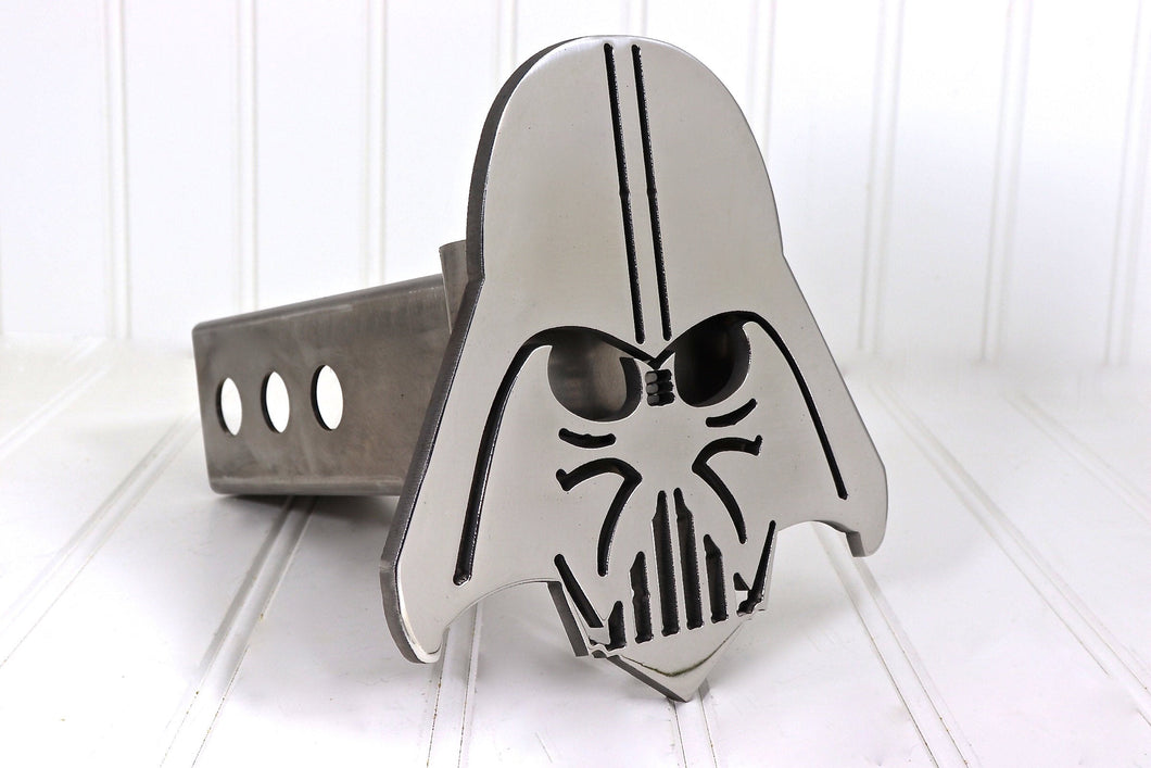 Stainless Darth Vader Hitch Cover, Free Shipping