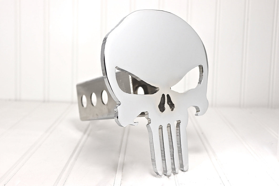 Chrome Punisher Hitch Cover, Free Shipping