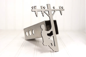 Stainless Lineman Hitch Cover, Free Shipping