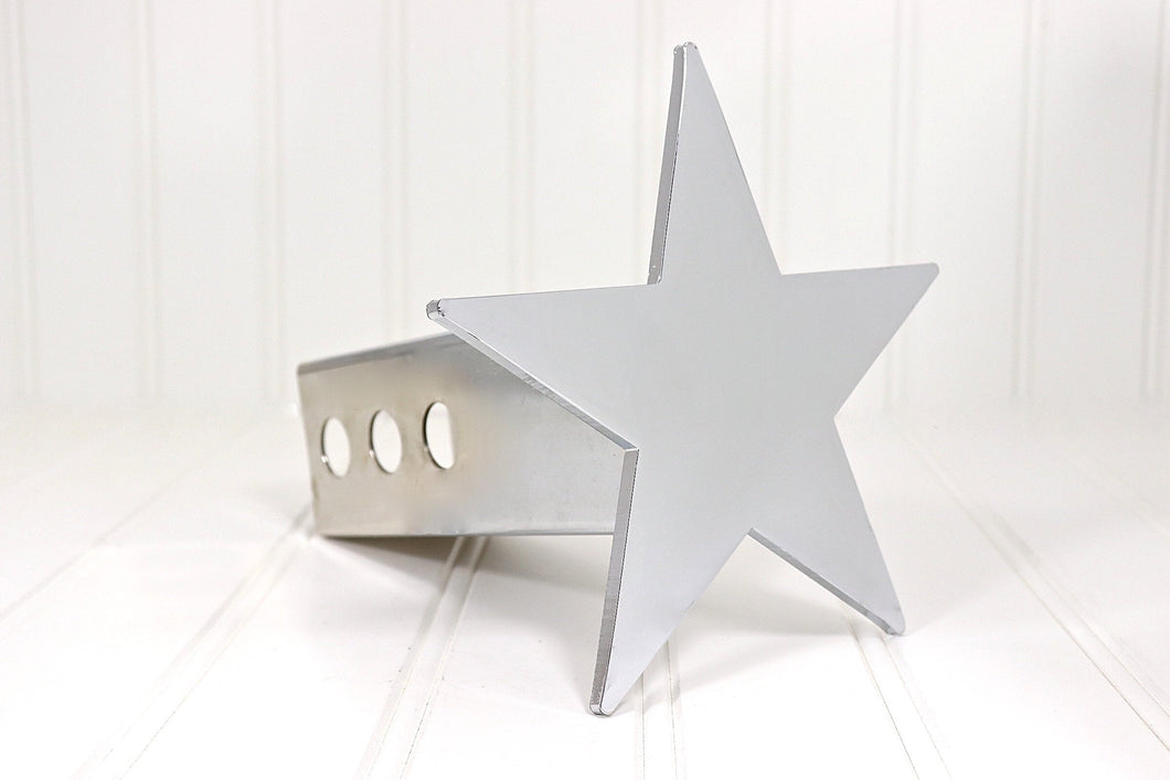 Chrome Five Point Star Hitch Cover, Free Shipping