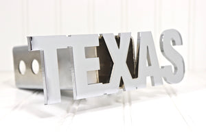 Chrome TEXAS Letters Hitch Cover, Free Shipping