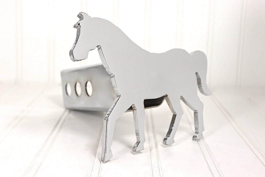 Chrome Show Horse Hitch Cover, Free Shipping