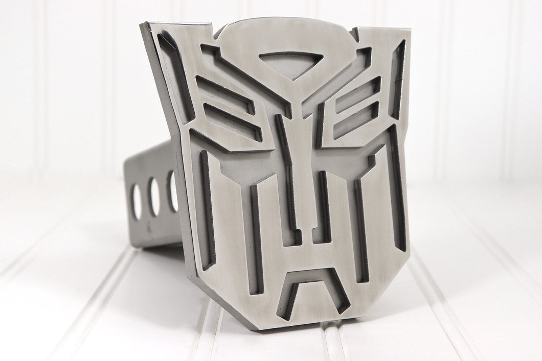 Stainless Autobot Hitch Cover, Free Shipping