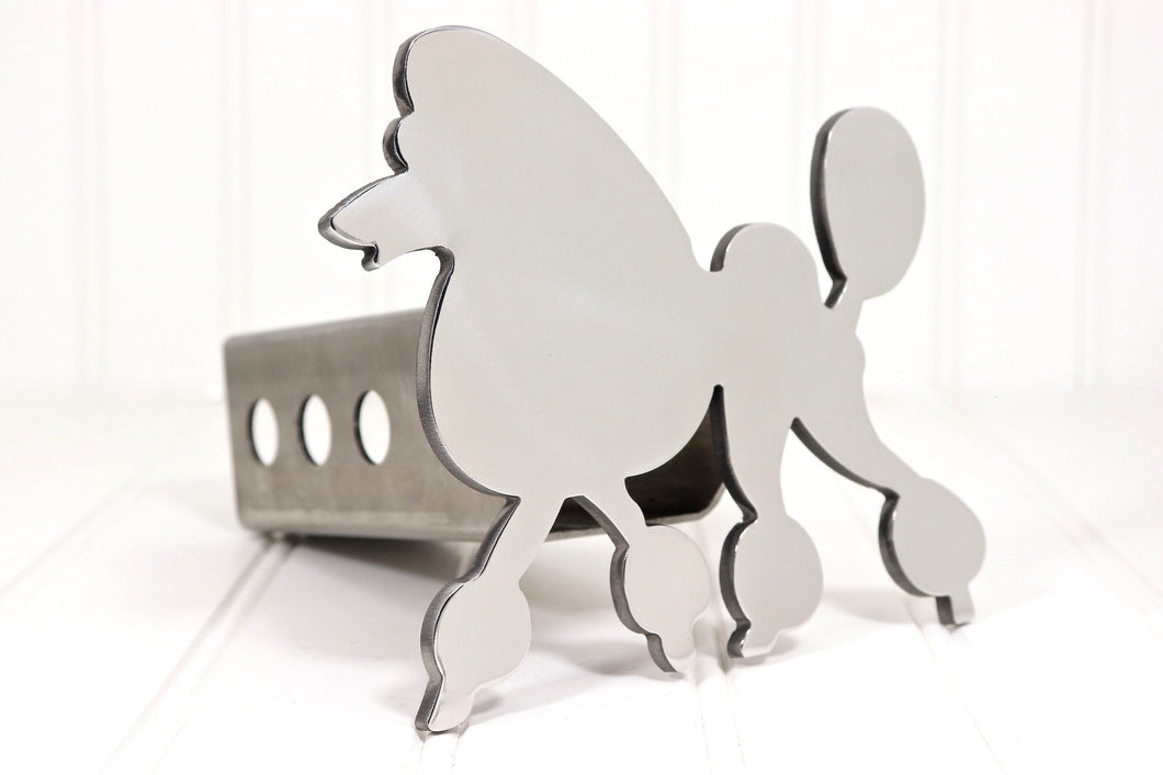 Stainless Poodle Hitch Cover, Free Shipping