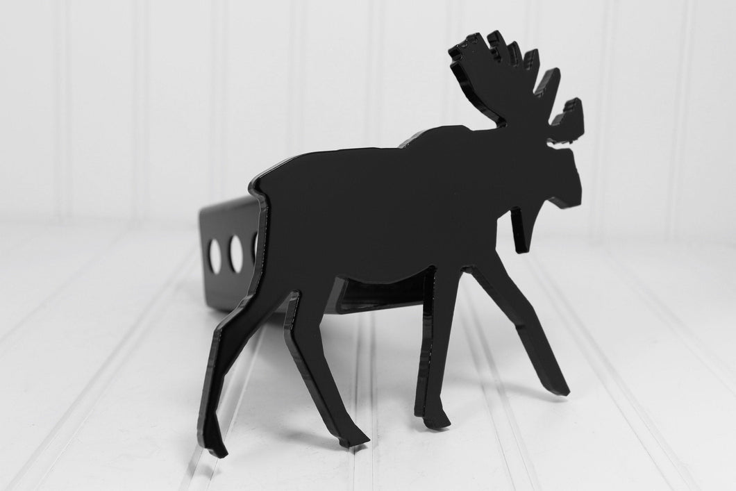 Black Moose Hitch Cover, Free Shipping