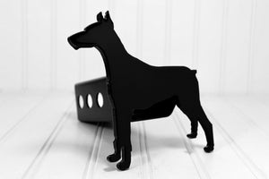 Black Doberman Pinscher Hitch Cover, Free Shipping