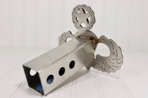 Stainless Steel Master Parachutist Badge Hitch Cover, Free Shipping