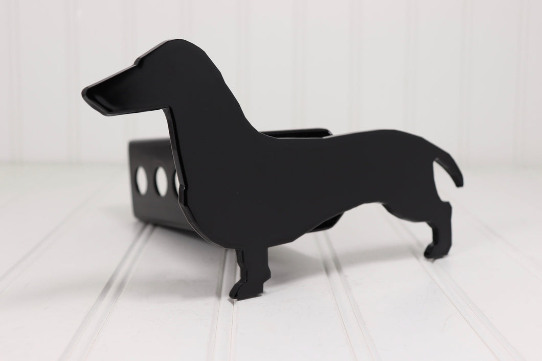 Black Dachshund Hitch Cover, Free Shipping