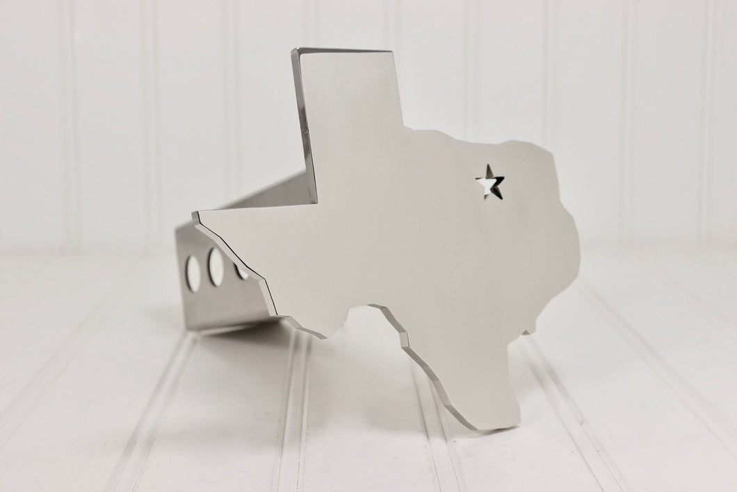 Stainless Texas with Star Hitch Cover, Polished, Free Shipping