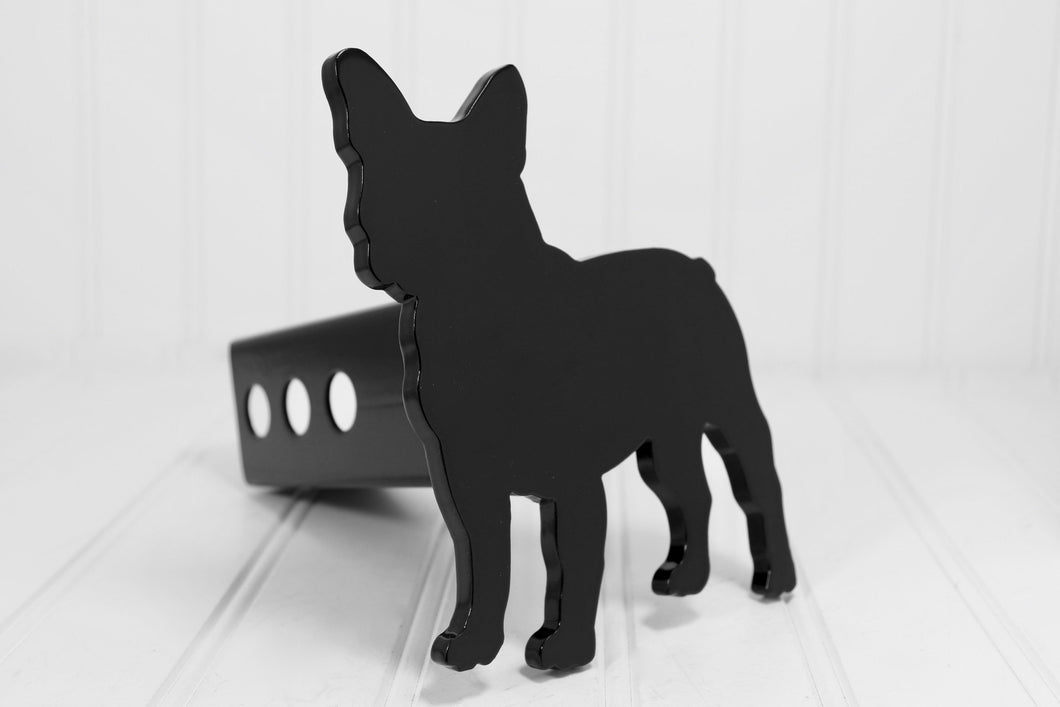 Black French  Bulldog Hitch Cover, Free Shipping
