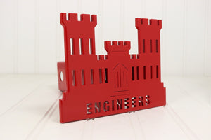 Red Engineers Castle Hitch Cover, Free Shipping