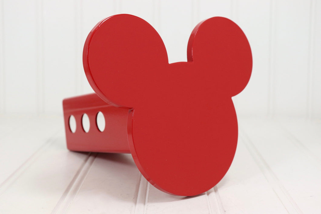 Red Mickey Mouse Ears Hitch Cover, Free Shipping