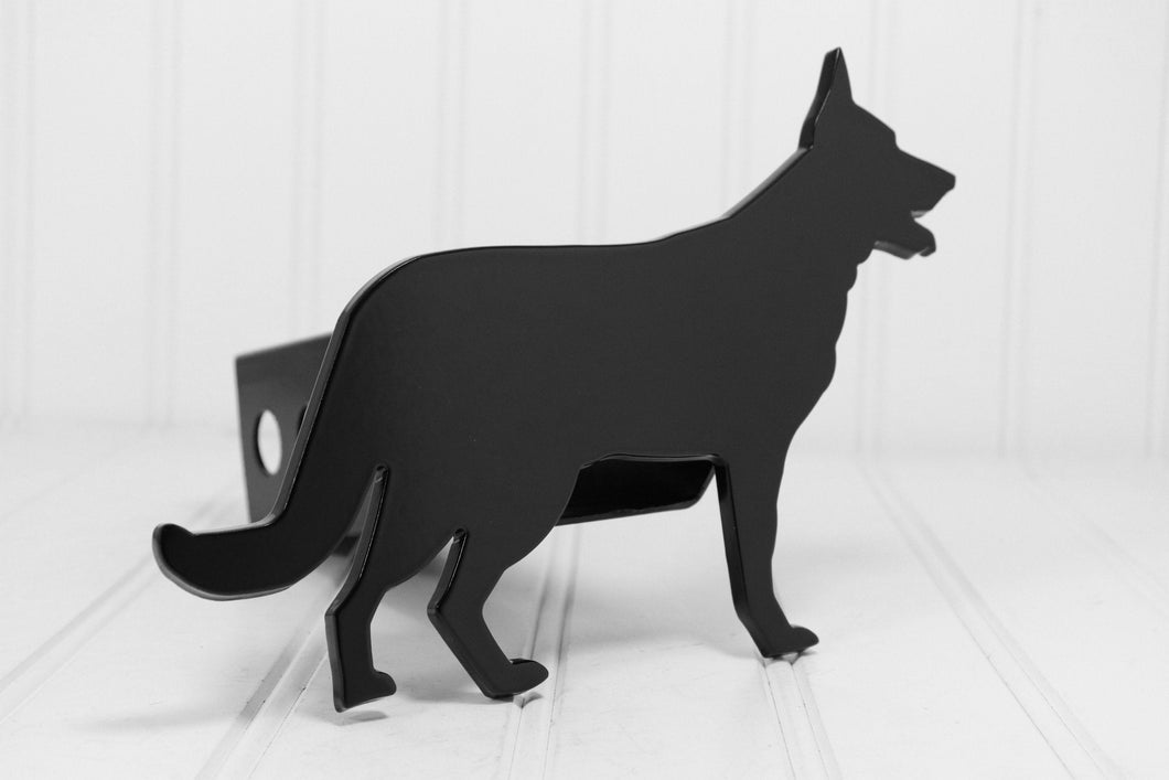 Black German Shepherd Hitch Cover, Free Shipping