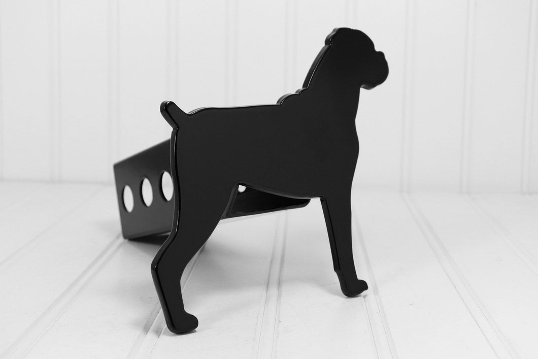 Black Boxer Floppy Ears Hitch Cover, Free Shipping