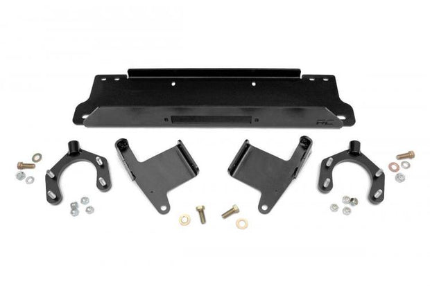 JEEP WINCH MOUNTING PLATE FOR FACTORY BUMPER (07-18 JK WRANGLER)