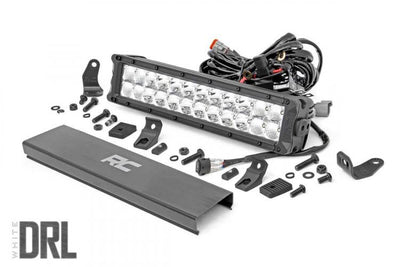 12-INCH CREE LED LIGHT BAR - (DUAL ROW | CHROME SERIES W/ COOL WHITE DRL)