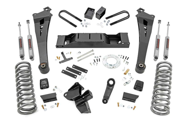 5IN DODGE RADIUS ARM SUSPENSION LIFT KIT (19-20 RAM 3500 4WD | DIESEL, DUAL REAR WHEELS)
