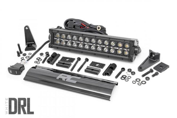 12-INCH CREE LED LIGHT BAR - (DUAL ROW | BLACK SERIES W/ COOL WHITE DRL)