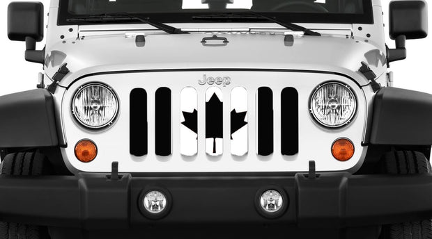 Canada, Eh? Black and White Canadian Grille Insert