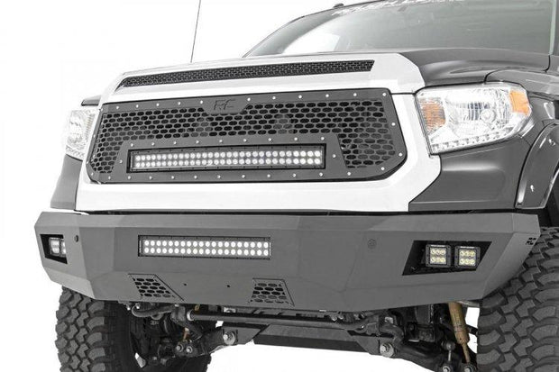 TOYOTA MESH GRILLE W/30IN DUAL ROW BLACK SERIES LED (14-17 TUNDRA)