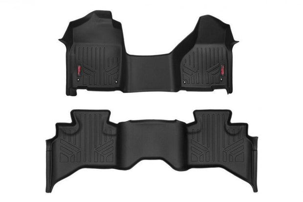 HEAVY DUTY FLOOR MATS [FRONT/REAR] - (12-18 DODGE RAM 1500 | QUAD CAB | HALF CONSOLE)