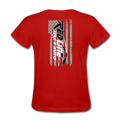 Women's Flag T-Shirt - red