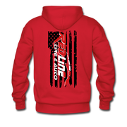 Men's Flag Hoodie - red