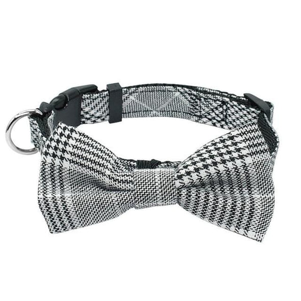 Plaid Dog Collar Bow Tie