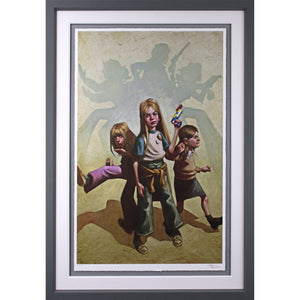 Craig Davison Angels Lets Get To Work Framed
