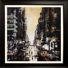 Load image into Gallery viewer, Mark Curryer Original Big Yellow Taxi Cab Framed