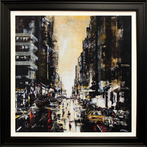Mark Curryer Original Big Yellow Taxi Cab Framed