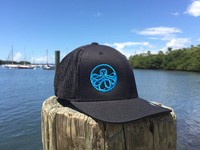 Black and Blue Flex-Fit Mesh Hat