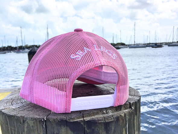 Sea Legs Pink/White Snap Back