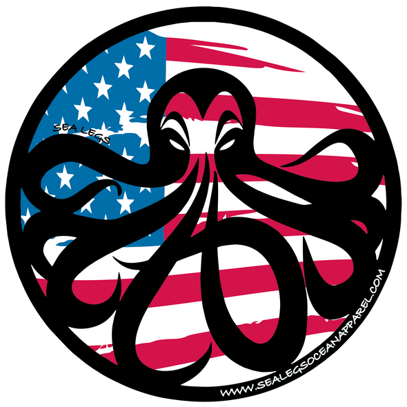 Sea Legs Stars & Stripes Decal