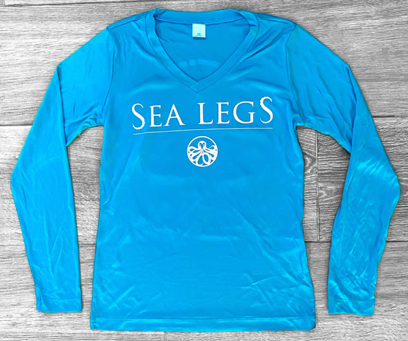 Long Sleeve Women's Dry-Fit (Aqua)