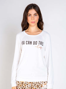 You Can Do This - Coffee, Long Sleeve Top