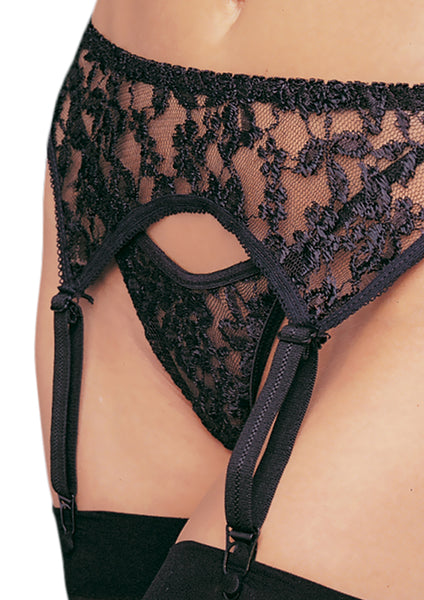 Garterbelt with Thong, 3 colours, One Size & Plus Size
