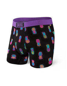 Vibe Boxer Brief - Black Solar Pineapples  PPB