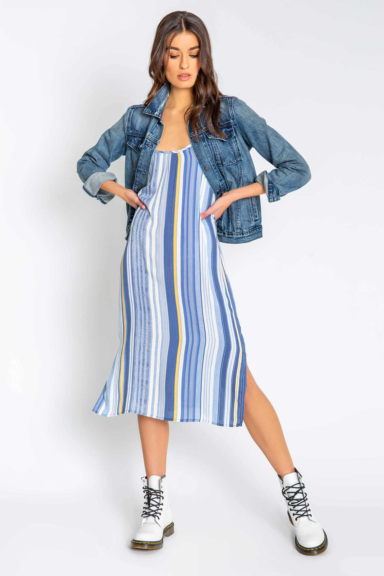 Beach Blues Stripe Dress
