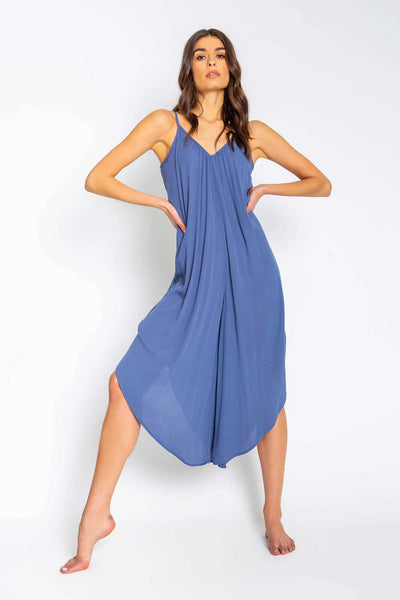 Beach Blues Solid Jumpsuit