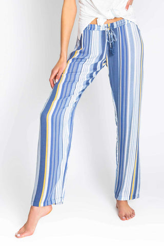 Beach Blues Stripe Pant