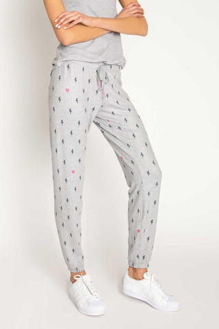 Peachy Party Lightening Bolts Pants