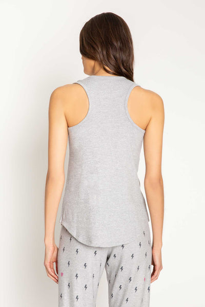 Peachy Party Lightening Bolts Tank