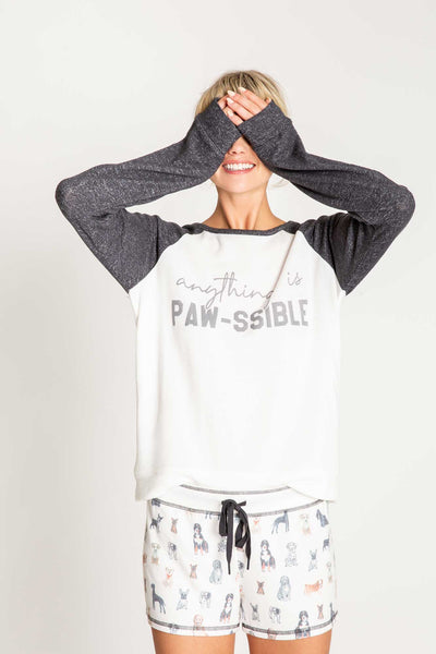 Anything is Paw-ssible L/S Top