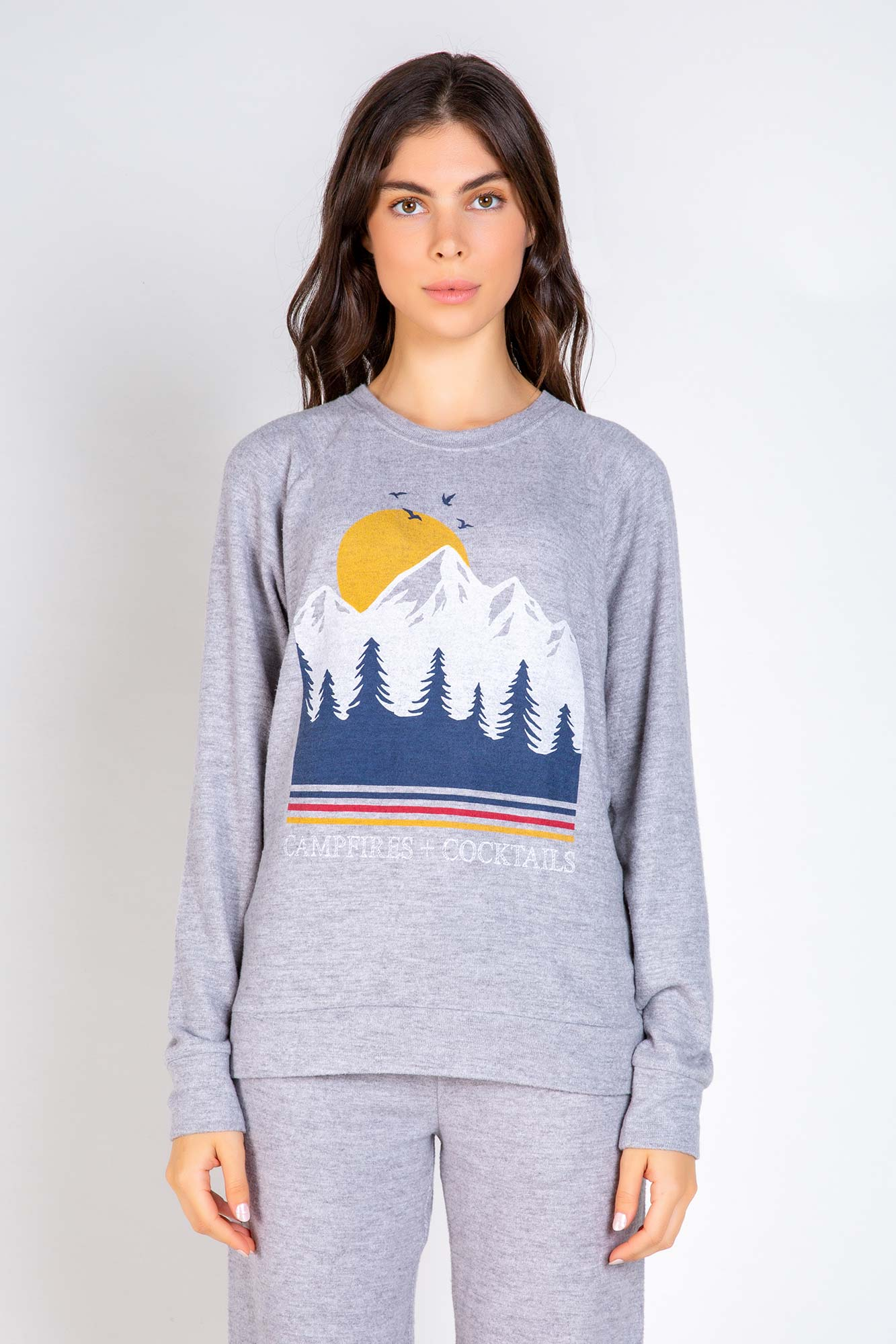 Lets Get Toasy 'Campfires + Cocktails', Long Sleeve Top