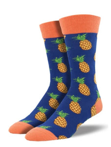 "Men's ""Many Pineapples"" Socks"